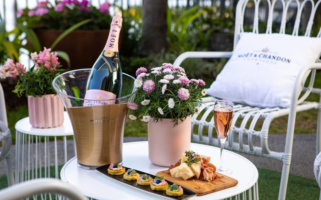 Cheers to a blooming good time at Customs House's Moët Rosé Garden pop-up!
