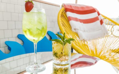 Swan dive into Grey Goose cocktails at Pool Bar this February!