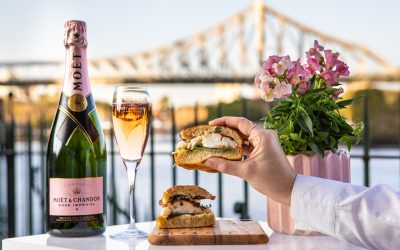 Customs House's Moët Rosé Garden pop-up is back for spring!